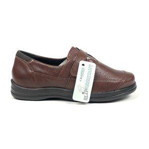 Apex Regina A701 Slip On Brown Loafers 6.5 Wide